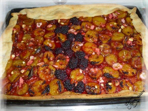 Tarte aux prunes et pralines au thermomix