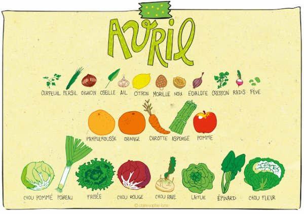 Légumes et fruits de saison