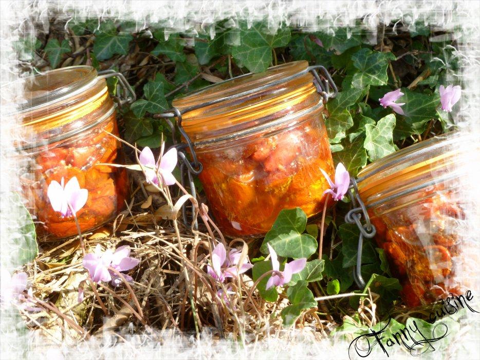 Tomates confites en conserves
