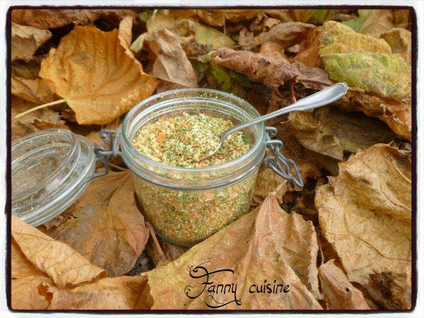 Bouillon de légumes maison déshydraté sans sel