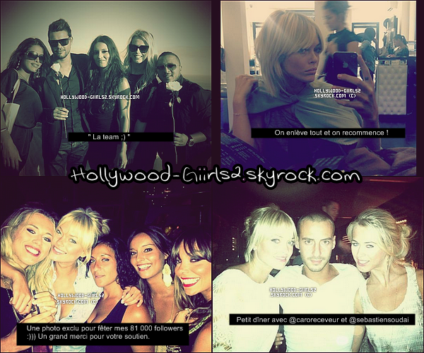 .  Nouvelles photos provenant du twitter de Caroline et Sylvia et du facebook de Ayem.  .