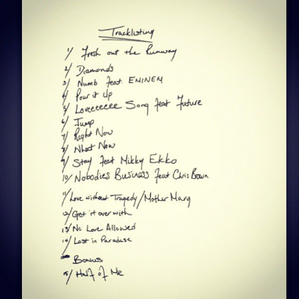 UNAPOLOGETIC OFFICIAL TRACKLIST
