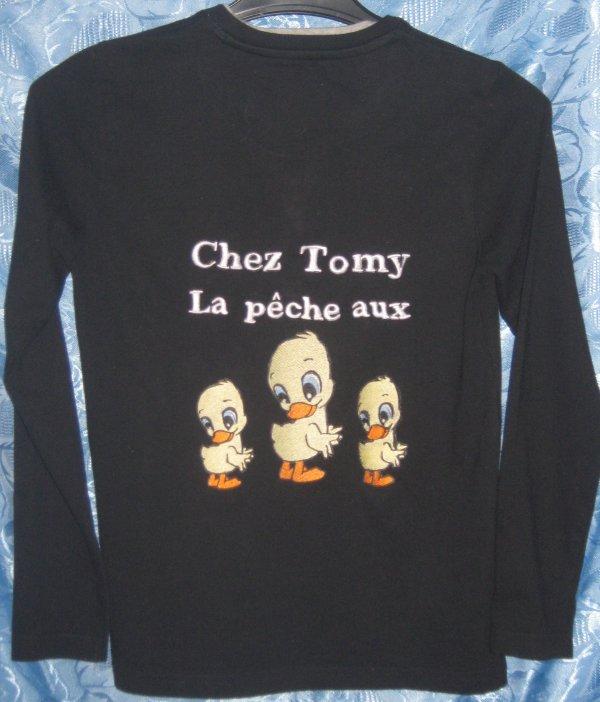 ANNIVERSAIRE DE TOMY ( COMMANDE DE BRODERIE )