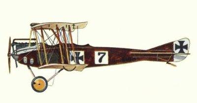 Avions militaires 14/18 allemands D.F.W. B.I