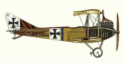 Avions militaires 14/18 allemands l'Albatros B.II
