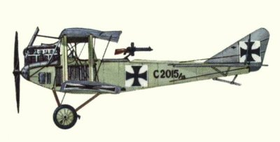 Avions militaires 14/18 allemands Ago C.II (été 1915).