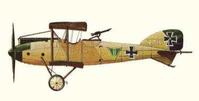 Avions militaires 14/18 allemands l'Albatros C.XII