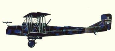 Avions militaires 14/18 allemands Gotha G.V  avril 1918.