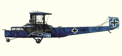 Avions militaires 14/18 allemands Zeppelin R.VI