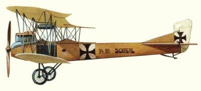 Avions militaires 14/18 autrichiens Aviatik Autriche B.II