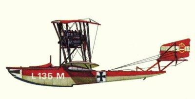 Avions militaires 14/18 autrichien biplan Lohner L (septembre 1916).