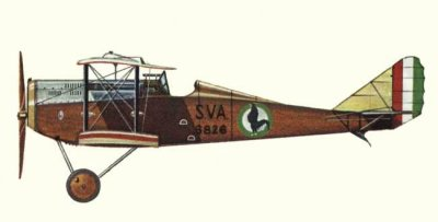 Avions militaires 14/18 italien Ansaldo S.V.A.5