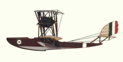 Avions militaires 14/18 italien  Macchi M.3 de la Regia Marina Italiana (1918-19).