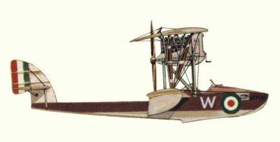 Avions militaires 14/18 italien  hydravion Macchi M.5 de la Regia Marina Italiana (1918-19).