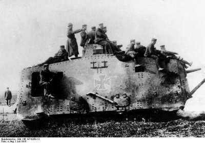 char allemand A7V 1918