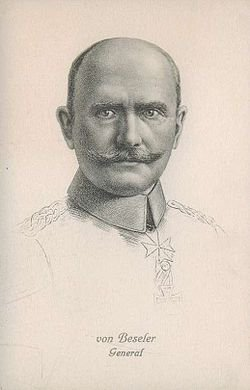 siège d'anvers Hans von Beseler