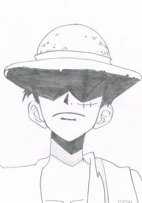 Luffy du manga one piece dessin 28 dieu iop 06300 - Dessin a imprimer one piece ...