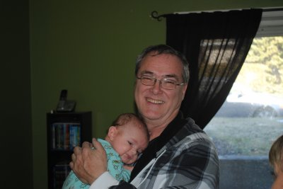 mon fils et mon petit fils Zacharie et moi