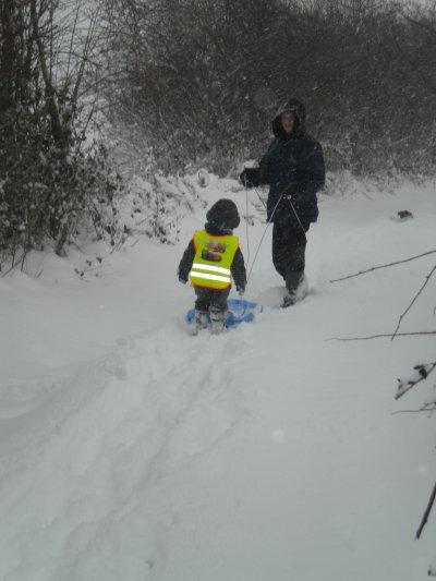 papa et mathéo dans la neige