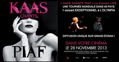 Concert de Patricia Kaas diffuser au cinéma !!!