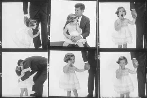 Caroline Kennedy and John F Kennedy