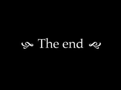 The end ....