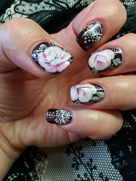 Roses sur burgundi