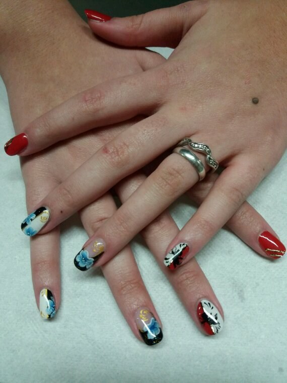 Trio de nail art