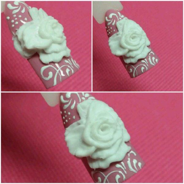 Roses en relief 3D UV