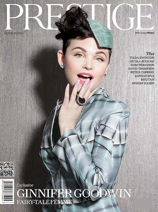 . 01/07/13 : Ginnifer Goodwin à fait la couverture du nouveau numéro du magazine Prestige (July 2013). .