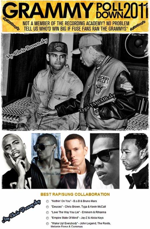 Votez Tyga  pour Deuces au Grammy Awards (Ces Votes ne sont pas décisifs)