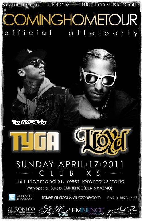 RDV Tyga avec Lloyd 17 Avril 2011