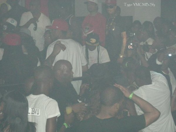 Tyga At Club  With Lil Wayne &  Birdman
