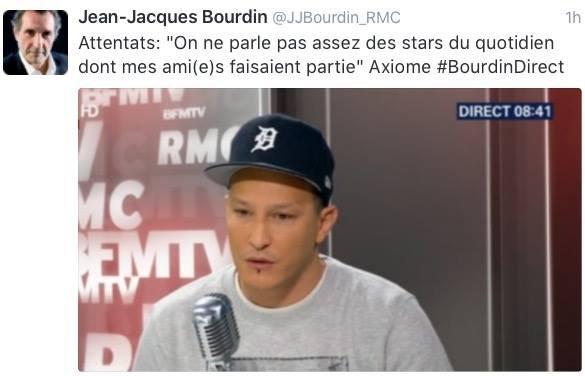 Axiom,Nicolas Hulot RMC TV Jean-Jacques Bourdin et Axiom sur RMC Radio.
