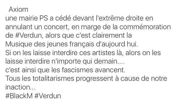 Axiom #BlackM #Verdun #Censure #Racisme