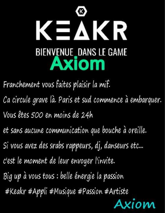Crée par Axiom #Keakr Appli Musique ✅ 👍😊