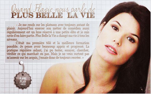__________ + Quand Flavie nous parle de Plus Belle la Vie__________________________________-____________________________ Mensuel n°49