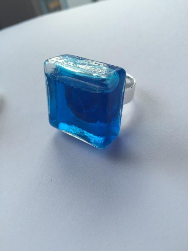 Bague en verre micro bille ou liquide