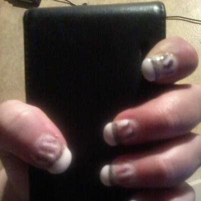 mon travail fait sur mes ongles le 27/2/2013