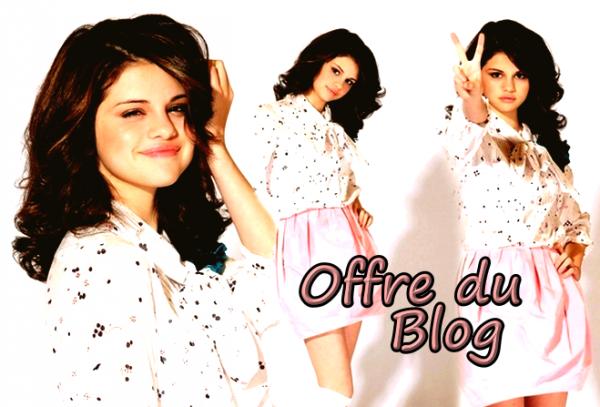Offre du blog. ♥