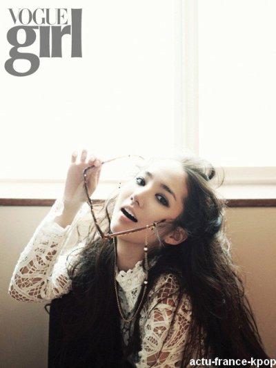 Park Min Young pose pour Vogue Girl / Park Min Young, récemment vu dans le nouveau drama Sungkyunkwan Scandal, a posé pour l'édition Janvier de Vogue Girl.Vous en pensez quoi?