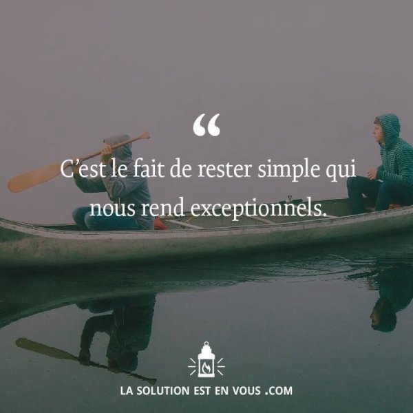 Simplement simple...