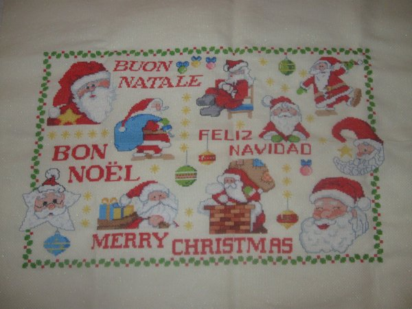 Broderie de Noel pour mes parents
