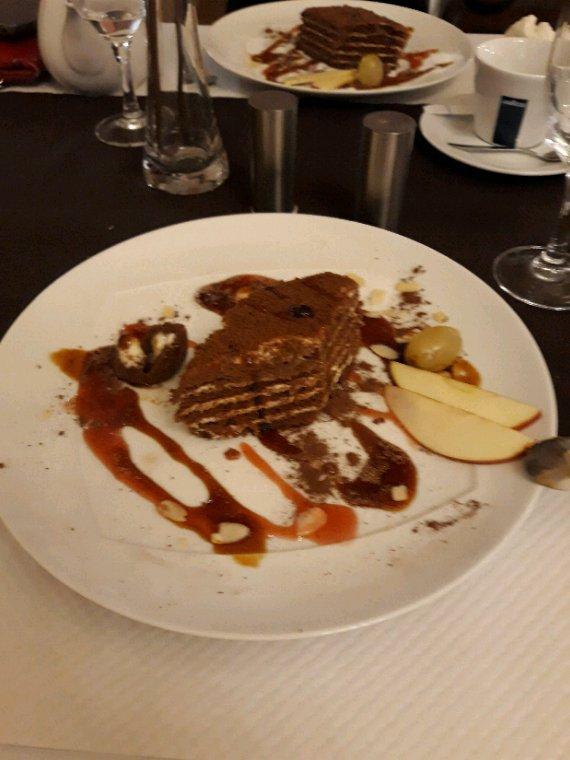 Dessert arménien au chocolat.