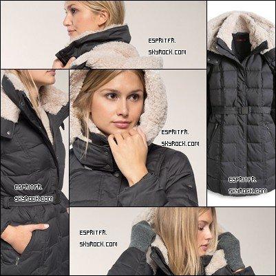 •••#1 Manteau matelassé avec ceinture FEMME•••