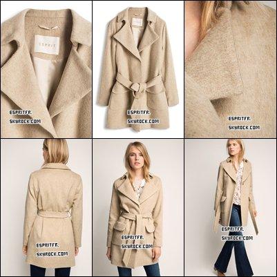 ••• # 8 Manteau en laine mélangée Femme•••