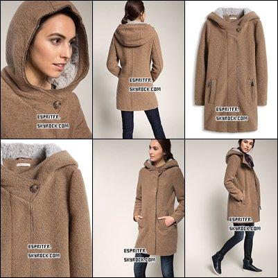 ••• #11Manteau en laine mélangé à capuche•••