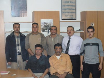 Les membres fondateurs de la Société palestinienne pour l'ornithologie