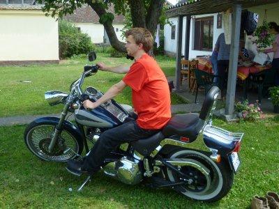 Moi et Harley Davidson