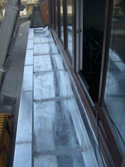 corniche en zinc - degreef toiture